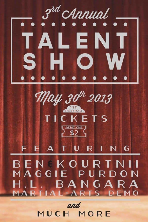Amazing Talent Show Flyer Templates  Word Excel Samples
