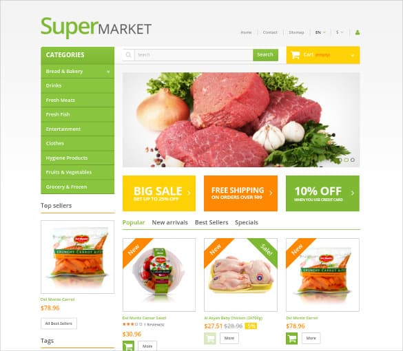 Template Swift  Grocery Templates Free