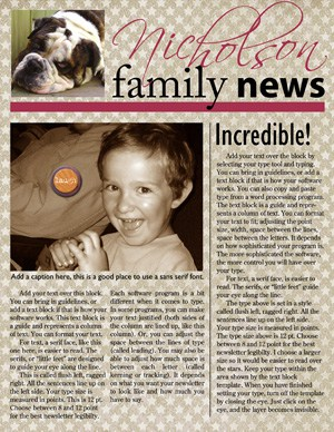 Family Newsletter Templates - Word Excel Samples