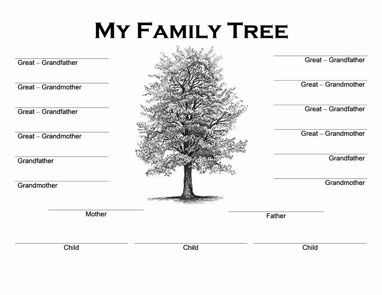 Family tree templates word word excel samples for Free family tree template