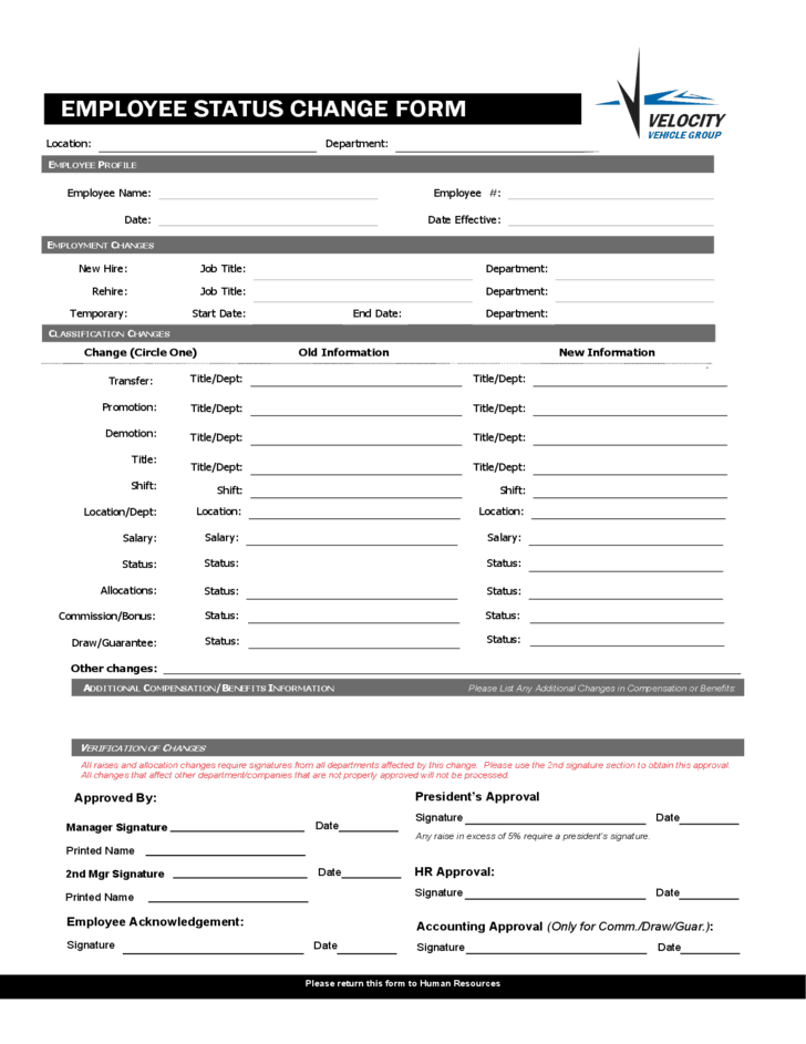 change of address form template