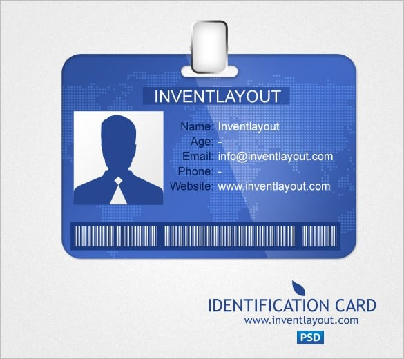 ID Card Templates Word Excel Samples - Card template free: blank id card template