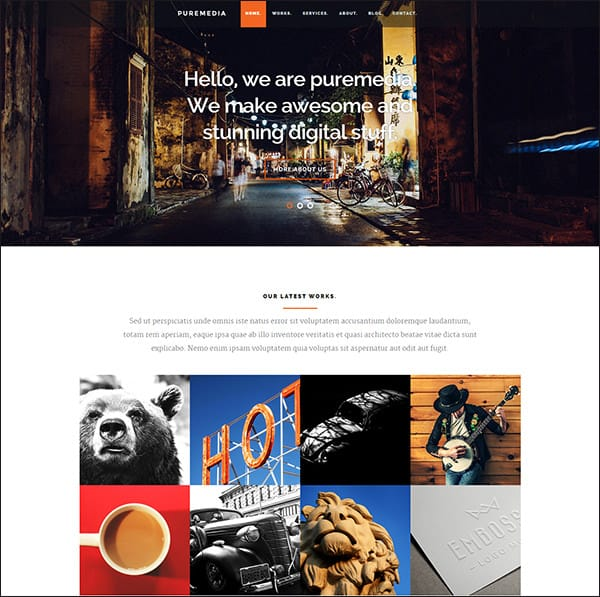 php website templates