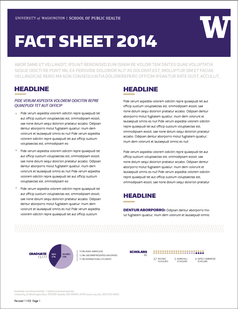 fact sheet templates word excel samples