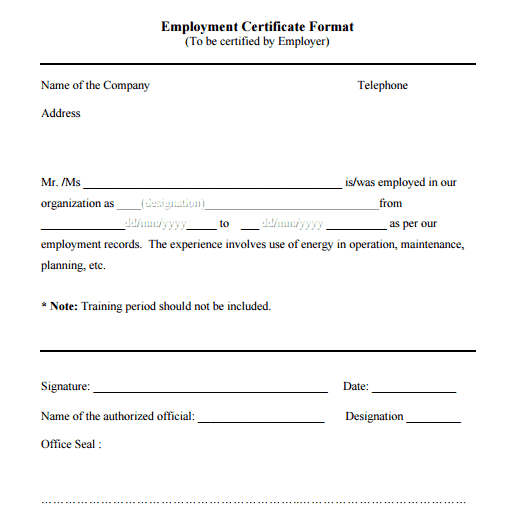 13  free certificate of employment samples