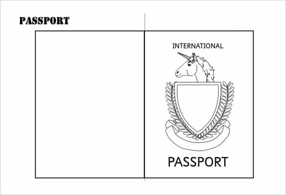 image relating to Printable Passport Template identified as 8+ Pport Templates PDF Term - Term Excel Samples