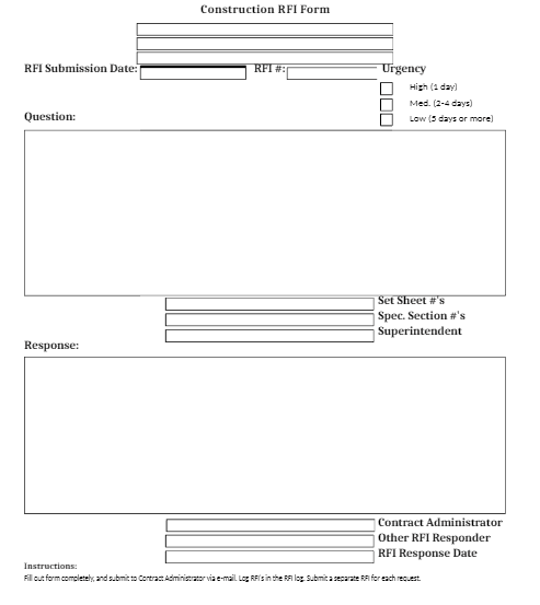 7+ Construction RFI templates - Word Excel Samples