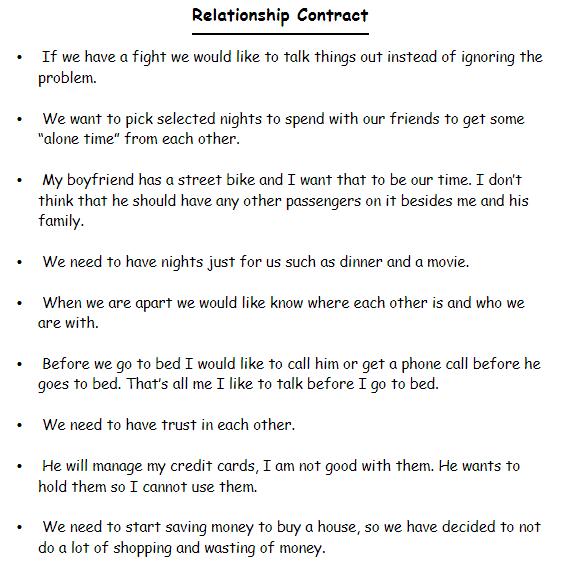 Relationship contract the Relationship Contract