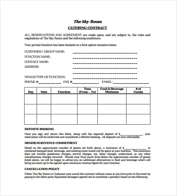 Datering kontrakt exempel