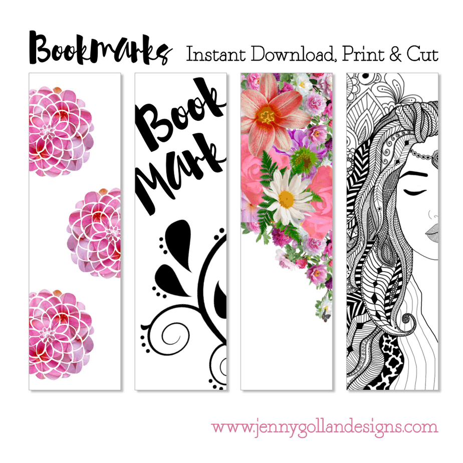 Products Bookmarks Design Inspiration And: Free Bookmark Templates