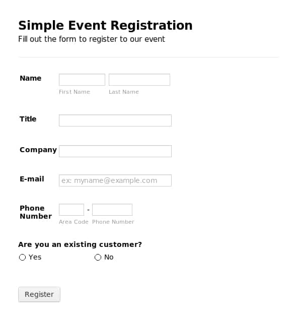 Critical image pertaining to printable registration form template