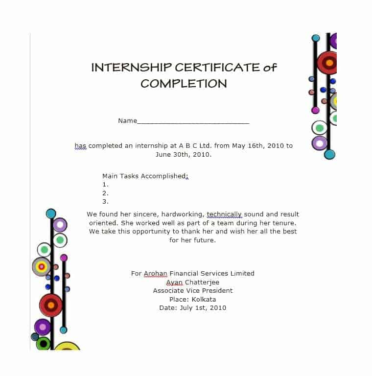 25+ Work Completion Certificate Templates