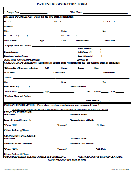 photograph about Printable Registration Form Template called 11+ Printable Registration Style Templates - Phrase Excel Samples