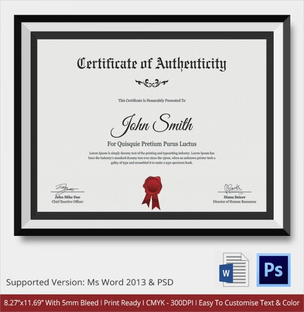 free printable certificate of authenticity templates.html