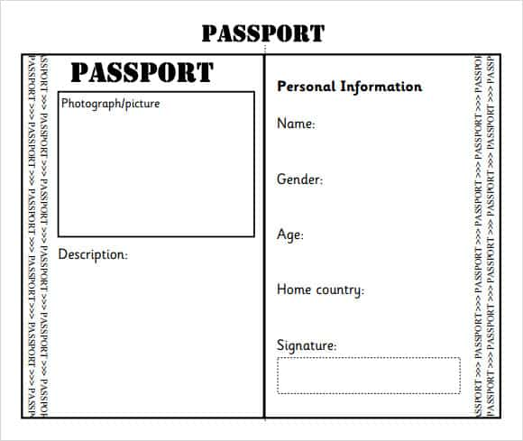 8+ Passport Templates PDF Word - Word Excel Samples