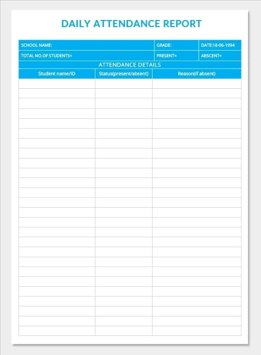 18  daily work report templates free