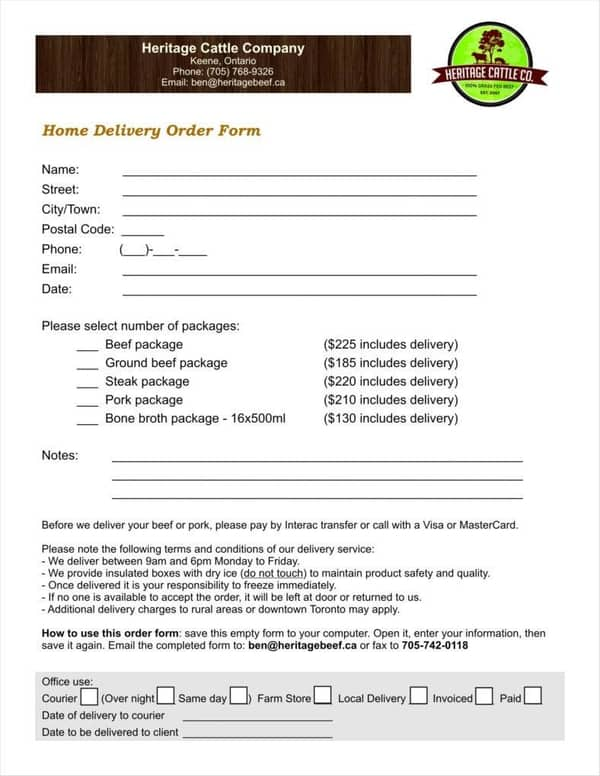 7+ Delivery Order Templates - Word Excel Samples